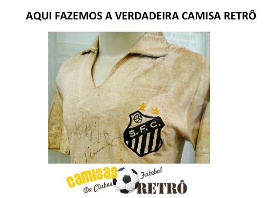 3bf78df86bbc3 Camisa retrô Santos logo gola polo - 1980